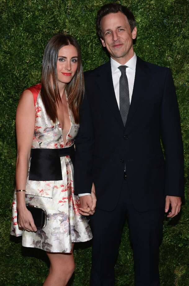 Alexi Ashe and Seth Meyers attend The Ninth Annual CFDA/Vogue Fashion Fund Awards at 548 West 22nd Street on November 13, 2012 in New York City.  (Photo by Dimitrios Kambouris/Getty Images) Photo: Dimitrios Kambouris, Getty Images / 2012 Getty Images