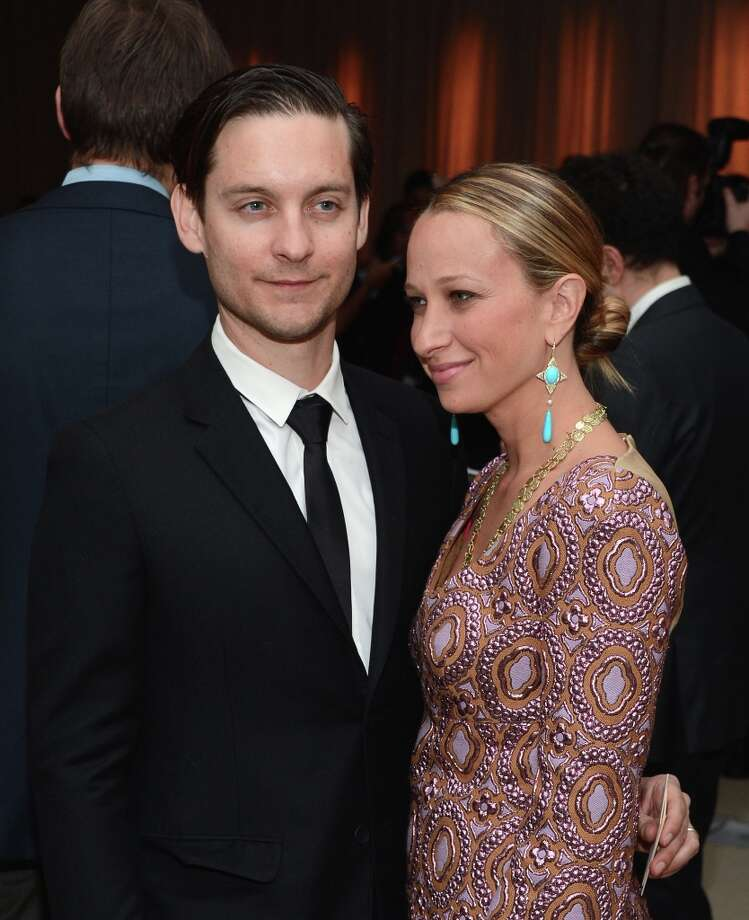 Actors Tobey McGuire and Jennnifer Meyer attends The Ninth Annual CFDA/Vogue Fashion Fund Awards at 548 West 22nd Street on November 13, 2012 in New York City.  (Photo by Andrew H. Walker/Getty Images) Photo: Andrew H. Walker, Getty Images / 2012 Getty Images