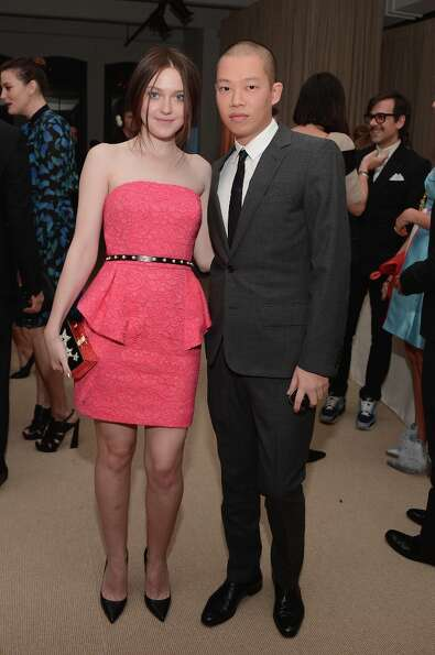Actress Dakota Fanning and designer Jason Wu attend The Ninth Annual CFDA/Vogue Fashion Fund Awards