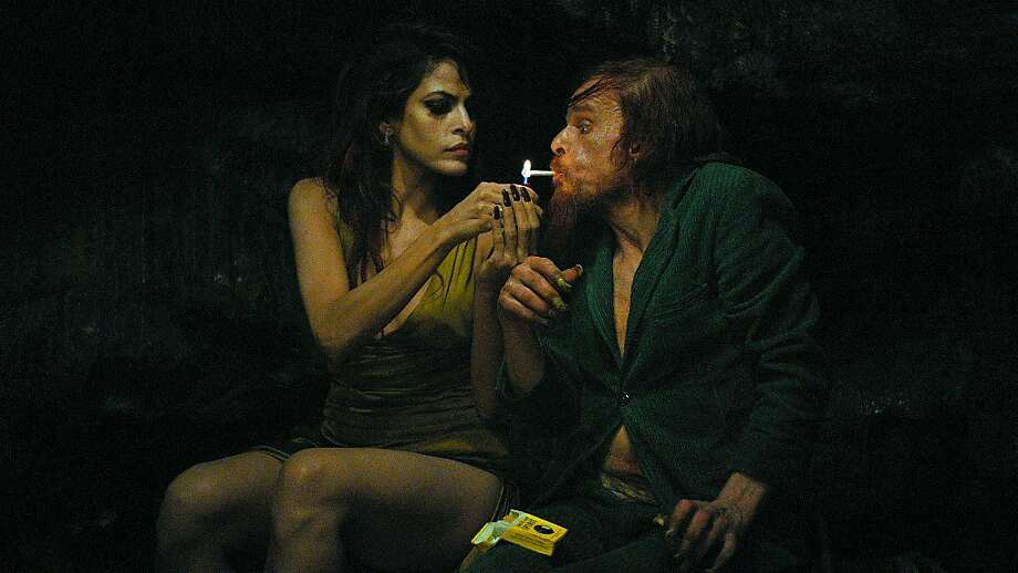 Denis Lavant is a man who assumes different identities meeting people like Eva Mendes. Photo: Indomina Releasing