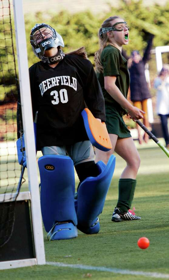 Deerfield Academy vs. Greenwich Academy in a NEPSAC (New England Preparatory School Athletic Council) field hockey quarterfinal game played at Greenwich Academy, Greenwich, CT Wednesday November14th 2012. Photo: Mark Conrad / Stamford Advocate Freelance