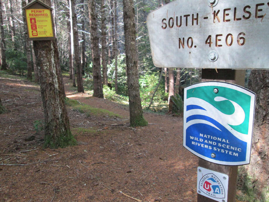 Trailhead for South Kelsey Trail (Tom Stienstra/The Chronicle)