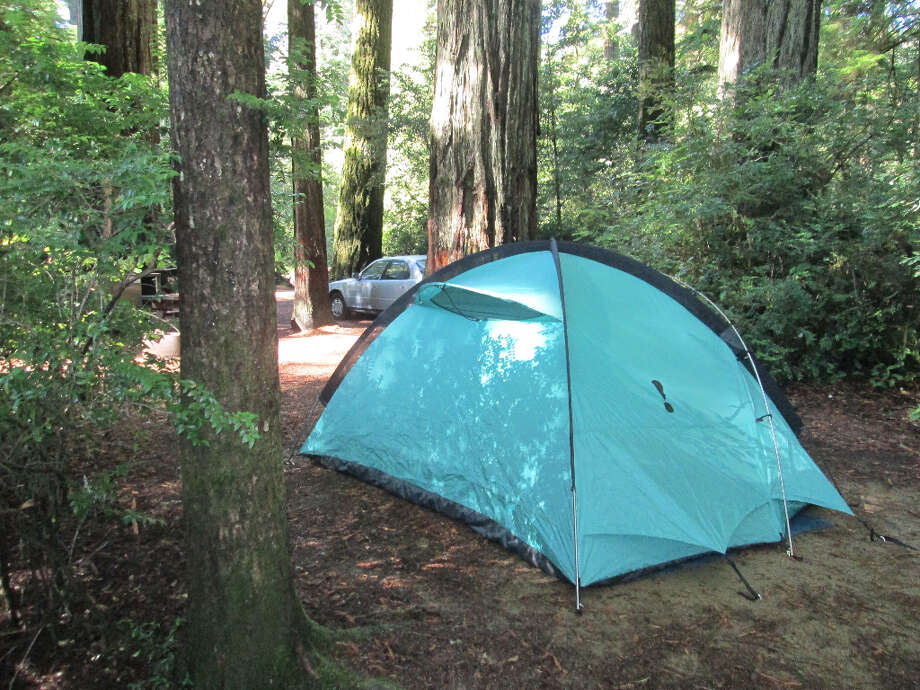 Campsites are tucked amid redwoods (Tom Stienstra/The Chronicle)