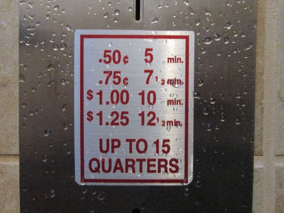 Coin showers mean you can start or end the day refreshed (Tom Stienstra/The Chronicle)