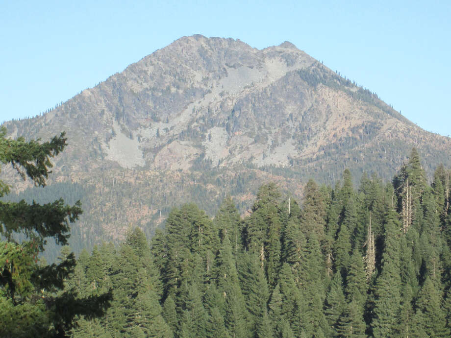 At 7,309 feet, Preston Peak towers over Clear Creel directly below (Tom Stienstra/The Chronicle)