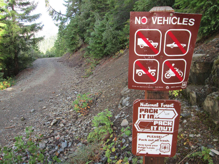 The Doe Flat Trailhead - the former road was closed to stop the spread of Port Orford Fungus from car tires (Tom Stienstra/The Chronicle)
