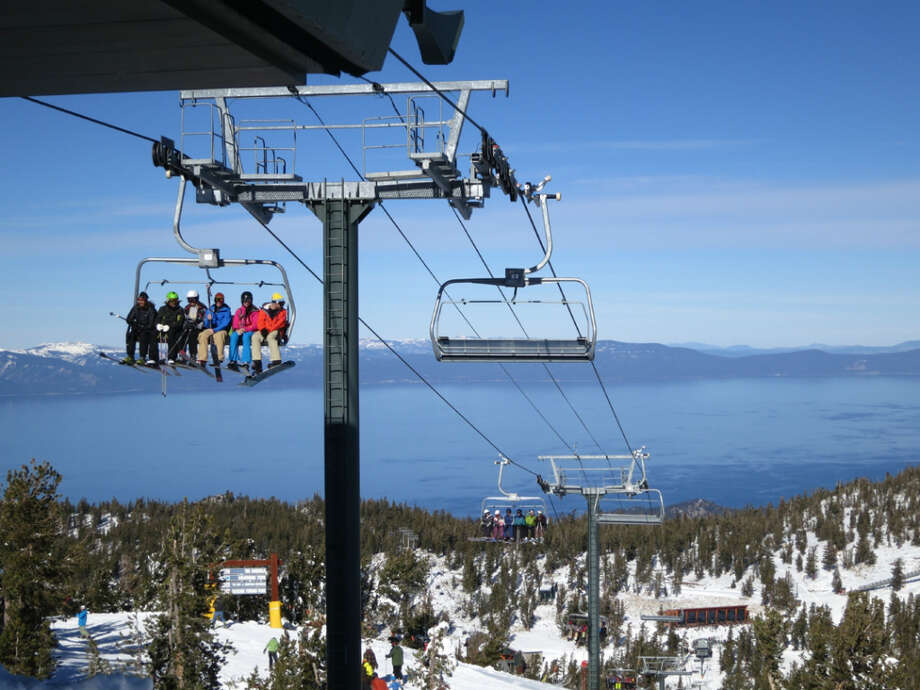 Riding the Tamarack chair at Heavenly on opening day of the 2012-2013 season. (Courtesy: Heavenly)