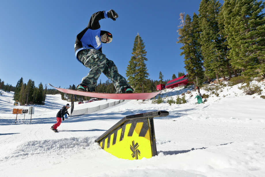 The terrain park at Northstar, opening day, 2012 (Courtesy: Northstar) Photo: Photographer: Chris Bartkowski