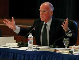 Gov. Jerry Brown attends the UC Board of Regents meeting to observe and discuss budgetary issues after the passage of Prop. 30 in San Francisco, Calif. on Wednesday, Nov. 14, 2012.