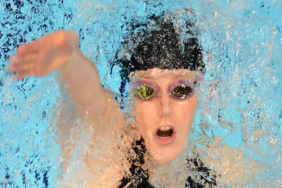 TOPSHOTS - PICTURE TAKEN WITH A ROBOTIC CAMERAUS swimmer Missy Franklin competes in the women's 200m backstroke final during the swimming event at the London 2012 Olympic Games on August 3, 2012 in London.  She won gold. AFP PHOTO / FRANCOIS XAVIER MARITFRANCOIS XAVIER MARIT/AFP/GettyImages Photo: Francois Xavier Marit, AFP/Getty Images