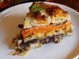Turkey Tortilla Pie for Jacqueline Higuera McMahan's South to North column, Nov. 18, 2012