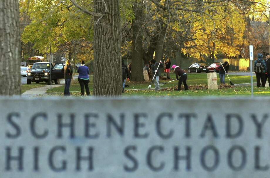 Schenectady High School grounds, Nov. 14, 2012. (Michael P. Farrell/Times Union) Photo: Michael P. Farrell