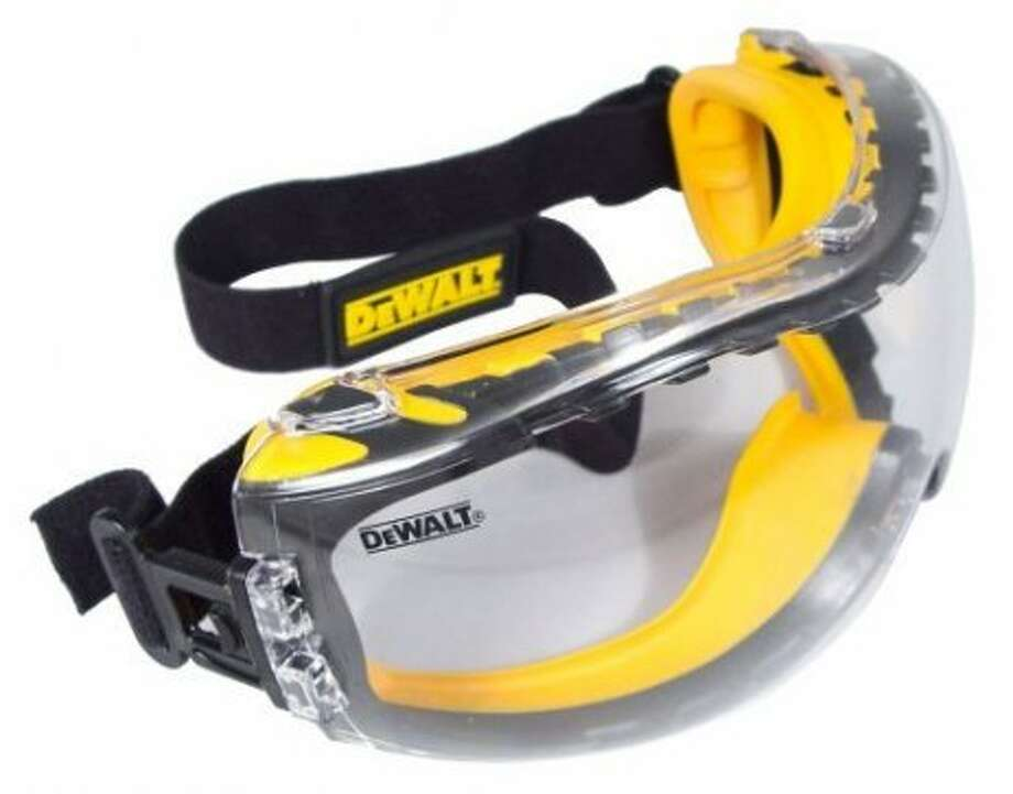 Protective eyewear: Because eyes are the windows to the brain. It'd be nice if you could find some that don't make you look like Bob the Builder, but don't count on it. (Amazon photo)
