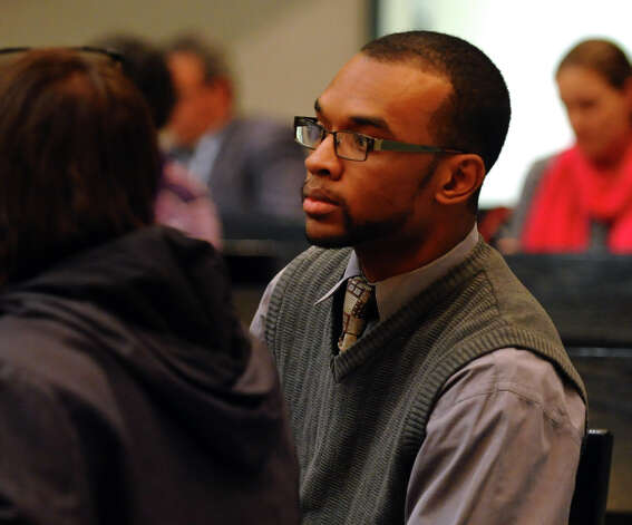 Onte Johnson of the Sierra Club attends the Connecticut Department of Energy and Environmental Protection's first public meeting on the Draft Comprehensive Energy Strategy (CES) at Bridgeport City Council Chambers in Bridgeport, Conn. on Wednesday November 14, 2012. Photo: Christian Abraham / Connecticut Post