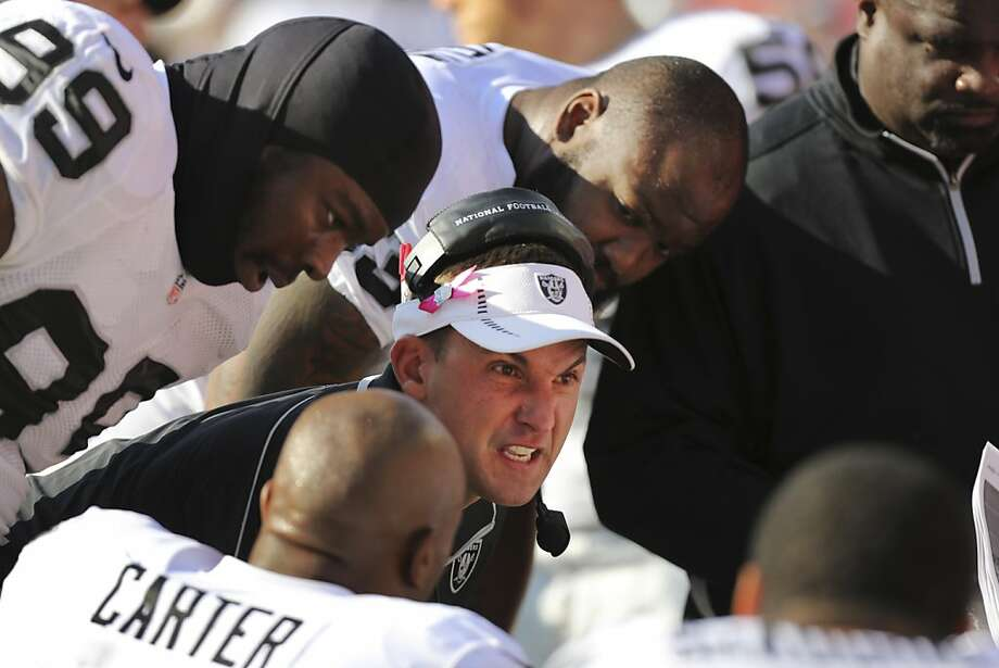 """Dennis Allen knows how to teach, motivate and inspire,"" says Joe Vitt. Photo: Ed Zurga, Associated Press"