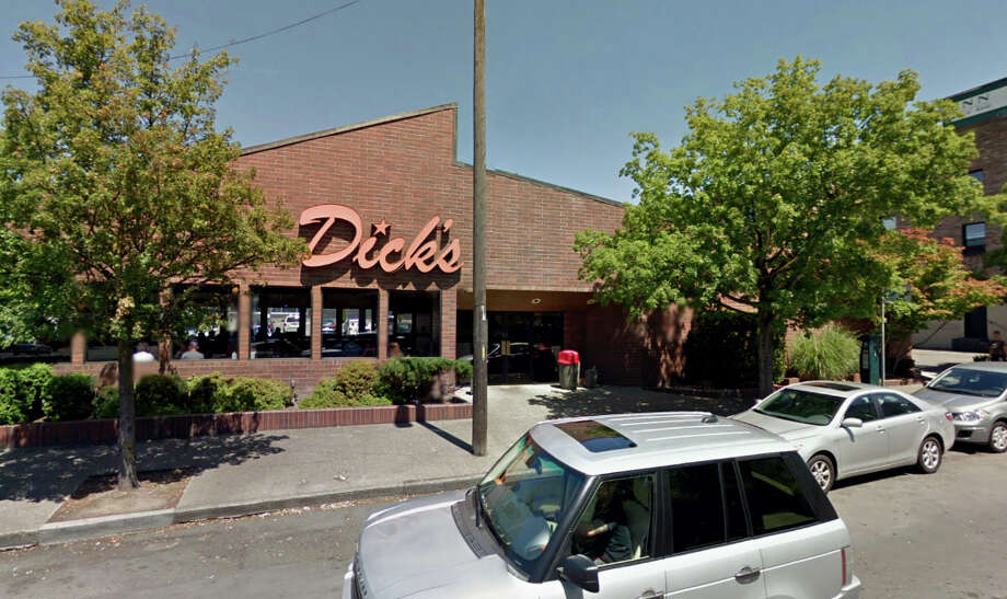 "Want a free Dick's burger? Let seattlepi.com buy you one between 2 and 4 p.m. Tuesday, April 16, at the Queen Anne location, 500 Queen Anne Ave. N. We're buying the burgers as a way to say ""thank you."" (Google Street View) Photo: Google Street View, 2011"