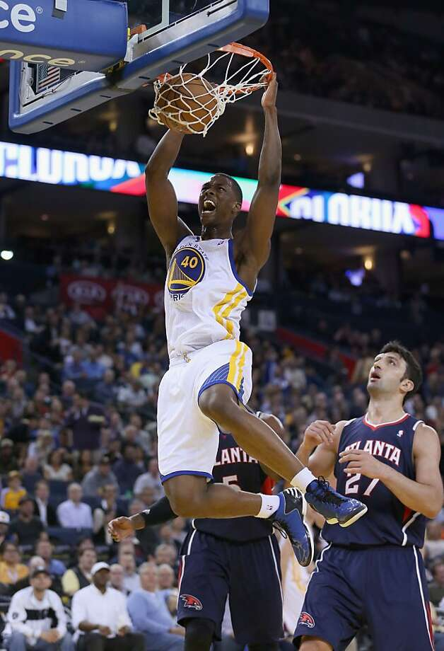 OAKLAND, CA - NOVEMBER 14: Harrison Barnes #40 of the Golden State Warriors dunks the ball during their game against the Atlanta Hawks at Oracle Arena on November 14, 2012 in Oakland, California.  NOTE TO USER: User expressly acknowledges and agrees that, by downloading and or using this photograph, User is consenting to the terms and conditions of the Getty Images License Agreement.  (Photo by Ezra Shaw/Getty Images) Photo: Ezra Shaw, Getty Images