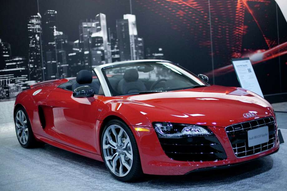 An Audi R-8 Spyder on Wednesday, November 14, 2012 during the opening day of the Seattle Auto Show at CenturyLink Field Events Center. Photo: JOSHUA TRUJILLO / SEATTLEPI.COM