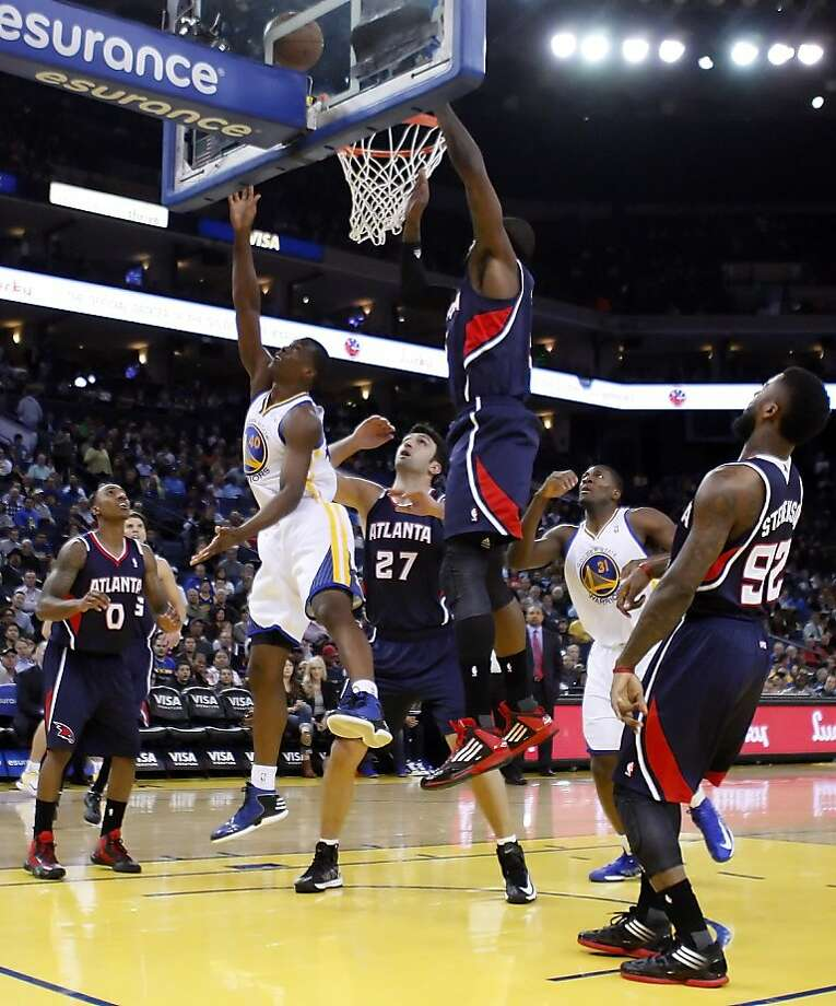 Harrison Barnes puts up a shot in the first quarter as the Golden State Warriors played the Atlanta Hawks at Oracle Arena in Oakland, Calif., on Wednesday, November 14, 2012. Photo: Carlos Avila Gonzalez, The Chronicle