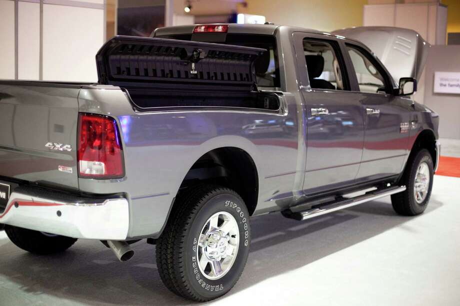 A Ram truck is shown with side bed storage on Wednesday, November 14, 2012 during the opening day of the Seattle Auto Show at CenturyLink Field Events Center. Photo: JOSHUA TRUJILLO / SEATTLEPI.COM