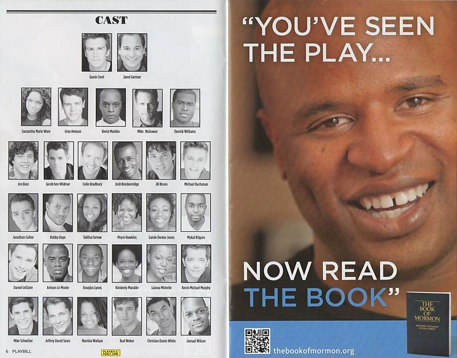 An ad the Mormon Church placed in the Playbill for the show. Photo: Playbill