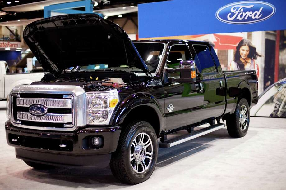 A Ford F-250 Superduty is shown on Wednesday, November 14, 2012 during the opening day of the Seattle Auto Show at CenturyLink Field Events Center. Photo: JOSHUA TRUJILLO / SEATTLEPI.COM