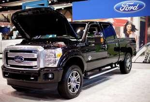 A Ford F-250 Superduty is shown on Wednesday, November 14, 2012 during the opening day of the Seattle Auto Show at CenturyLink Field Events Center.