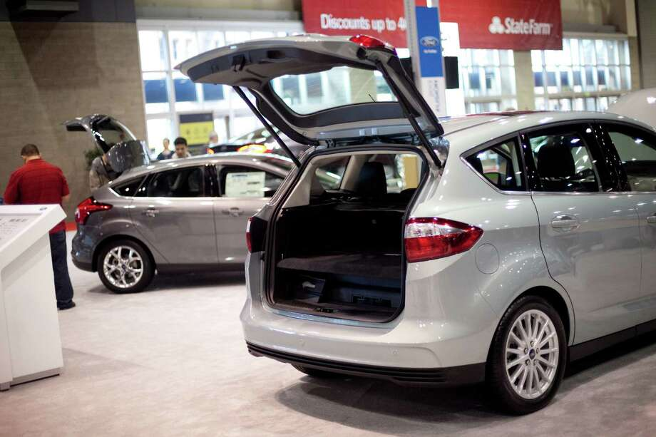 A Ford C-Max Energi plug-in hybrid is shown on Wednesday, November 14, 2012 during the opening day of the Seattle Auto Show at CenturyLink Field Events Center. Photo: JOSHUA TRUJILLO / SEATTLEPI.COM