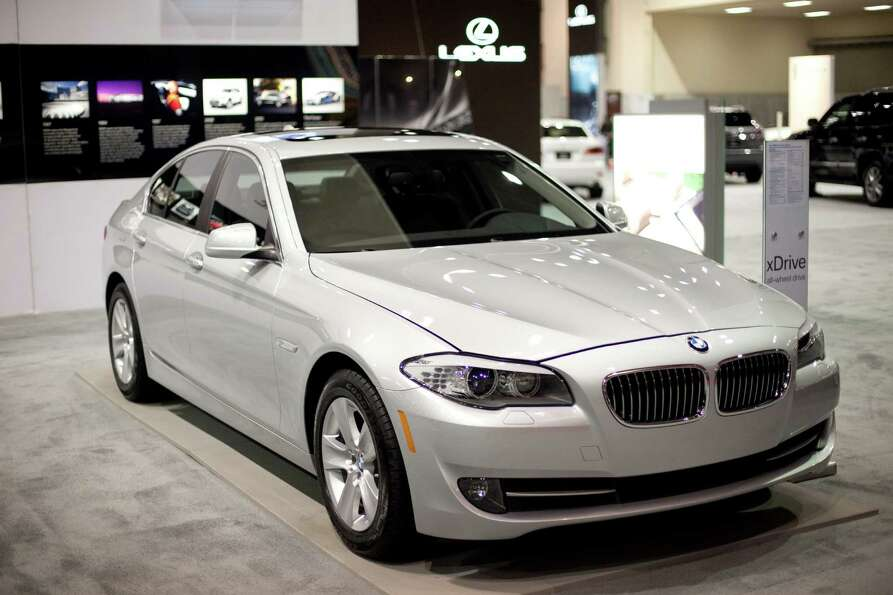 A BMW 528i is shown on Wednesday, November 14, 2012 during the opening day of the Seattle Auto Show