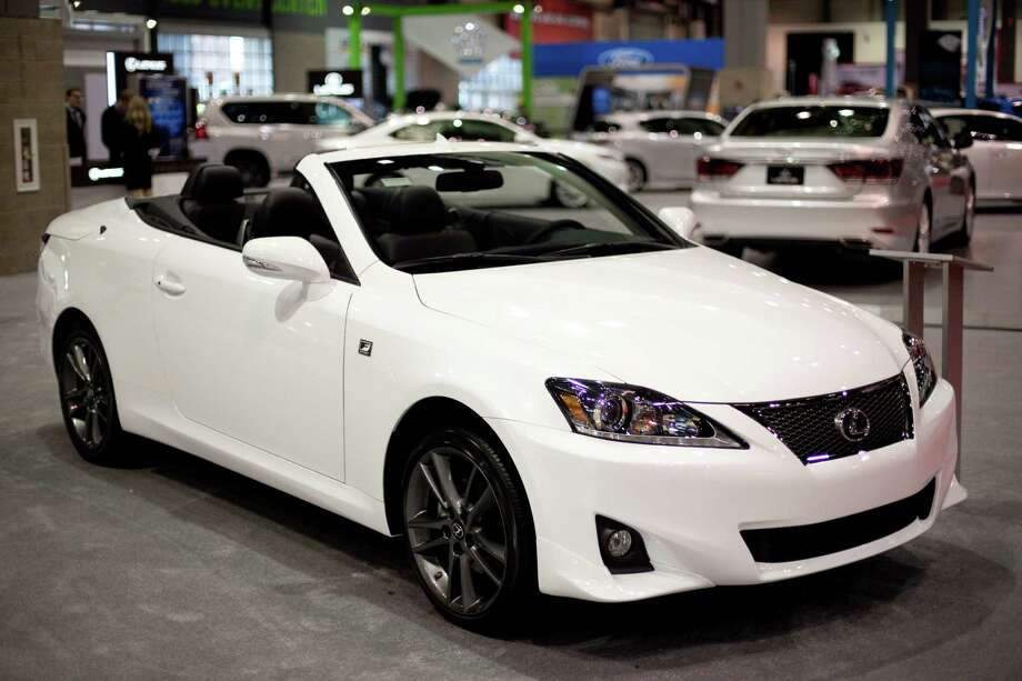 A Lexus IS250C is shown on Wednesday, November 14, 2012 during the opening day of the Seattle Auto Show at CenturyLink Field Events Center. Photo: JOSHUA TRUJILLO / SEATTLEPI.COM