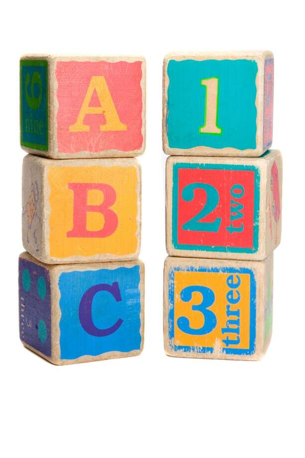 Childs toy blocks for education and learning the A B Cs (Chad McDermott - Fotolia)