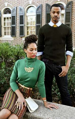 Erikka Walker, left, styled by Larena Head and Bryan Harris, right, styled by Grace Mathis at the Phelan Mansion in Beaumont on Wednesday, November 7, 2012. Photo taken: Randy Edwards/The Enterprise Photo: Randy Edwards