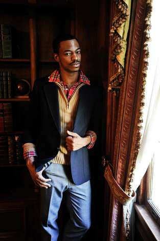 Bryan Harris styled by Grace Mathis at the Phelan Mansion in Beaumont on Wednesday, November 7, 2012. Photo taken: Randy Edwards/The Enterprise Photo: Randy Edwards