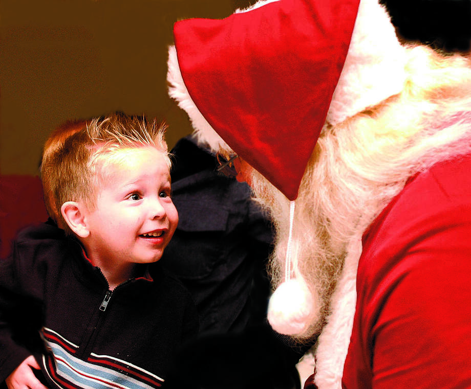 David Conner had a chance to speak with Santa Claus at a past event in Bridgeland.