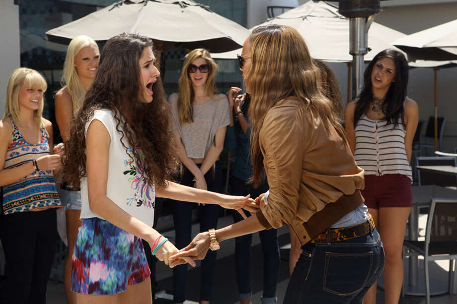 "America's Next Top Model -- ""The Girl Who Does What Tyler Perry Says""Pictured left to right: (Front) Victoria and Tyra Banks (background) Kristin, Laura, Leila and AllyssaCycle 19Photo: Patrick Wymore/The CW©2012 The CW Network, LLC. All Rights Reserved Photo: Patrick Wymore, The CW / ©2012 The CW Network, LLC. All Rights Reserved"
