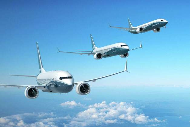 An artist's depiction of the Boeing 737 MAX 7, 8 and 9. Photo: Boeing Graphic, The Boeing Co. / Copyright © 2012 Boeing. All Rights Reserved.