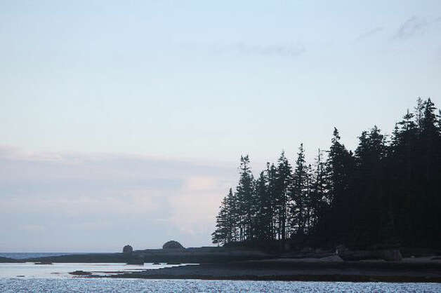 Rocky shores at McGlothen Island, Maine hint at the challenges facing boaters. Photos by Cinda Hardberger