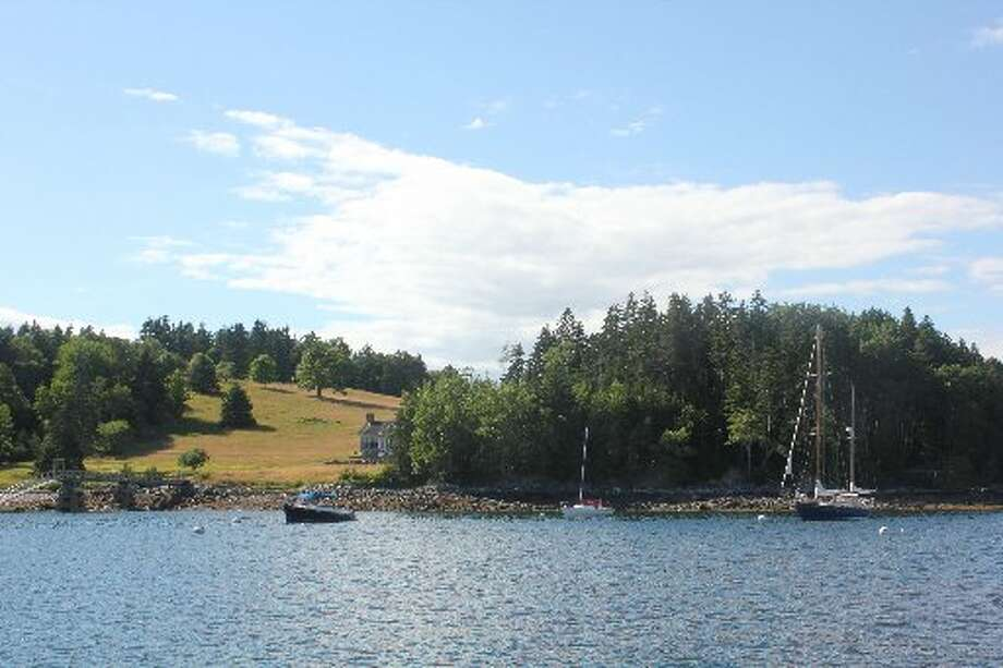 Buck's Harbor, Maine offers a quiet and picturesque spot for a few boats on calm waters