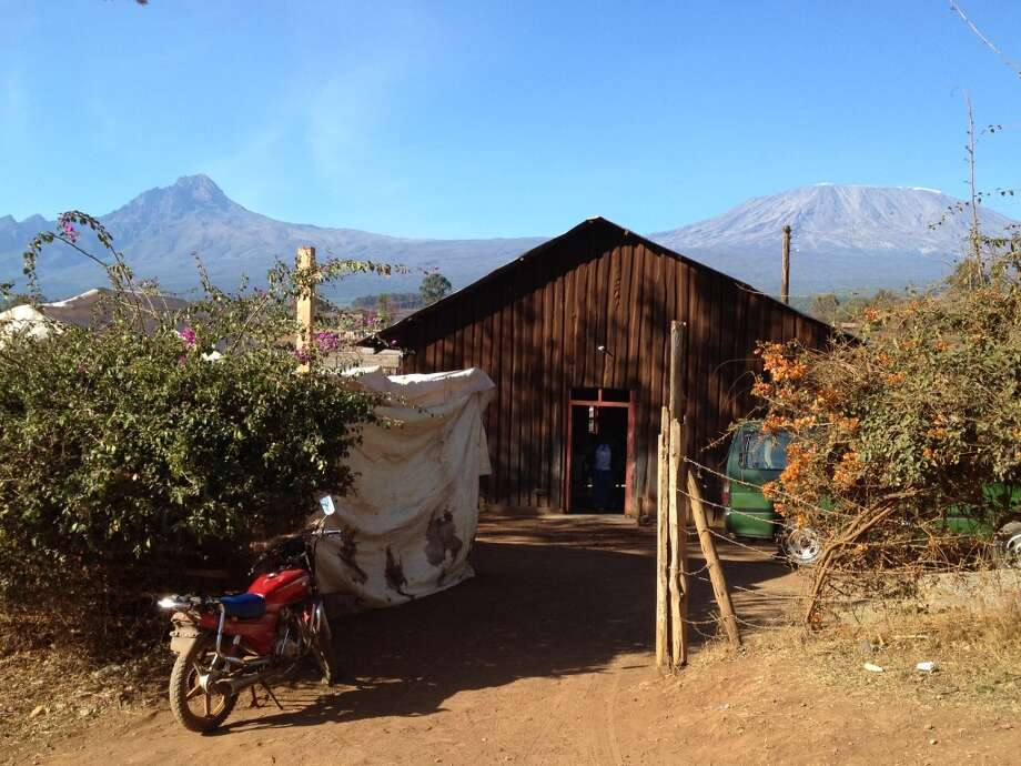 The church in Oloitokitok where the eye-glass clinics were held in October. In the background is Mt. Kilimanjaro and the Kibo Slopes (Photo: Ken Chitwood)