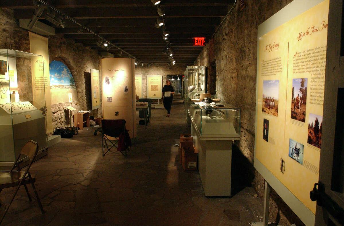 Interior view of the Long Barracks Museum at the Alamo Tuesday, October 4, 2005. GLORIA FERNIZ/STAFF