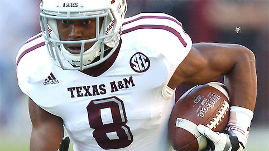 Former Texas A&M receiver Thomas Johnson is accused of killing a jogging Dallas man with a machete Oct. 12, 2015. Photo: Mike Zarrilli, . / 2012 Getty Images