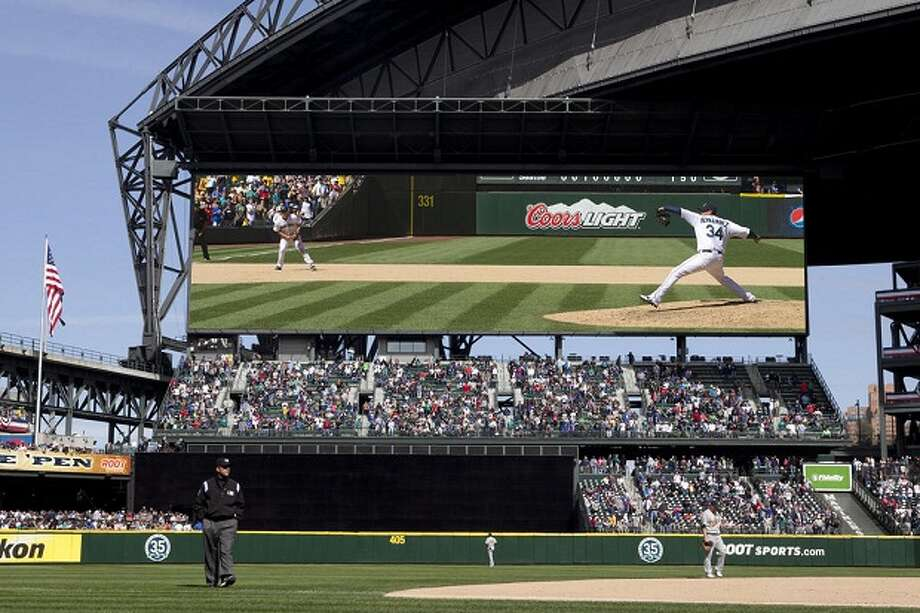 This rendition of the new Safeco Field scoreboard shows it in a configuration for video display only. (VanHouten Photography / Seattle Mariners)