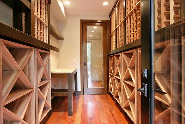 There's also a wine cellar in the 5,100-square-foot home. Photo: Liz Rusby