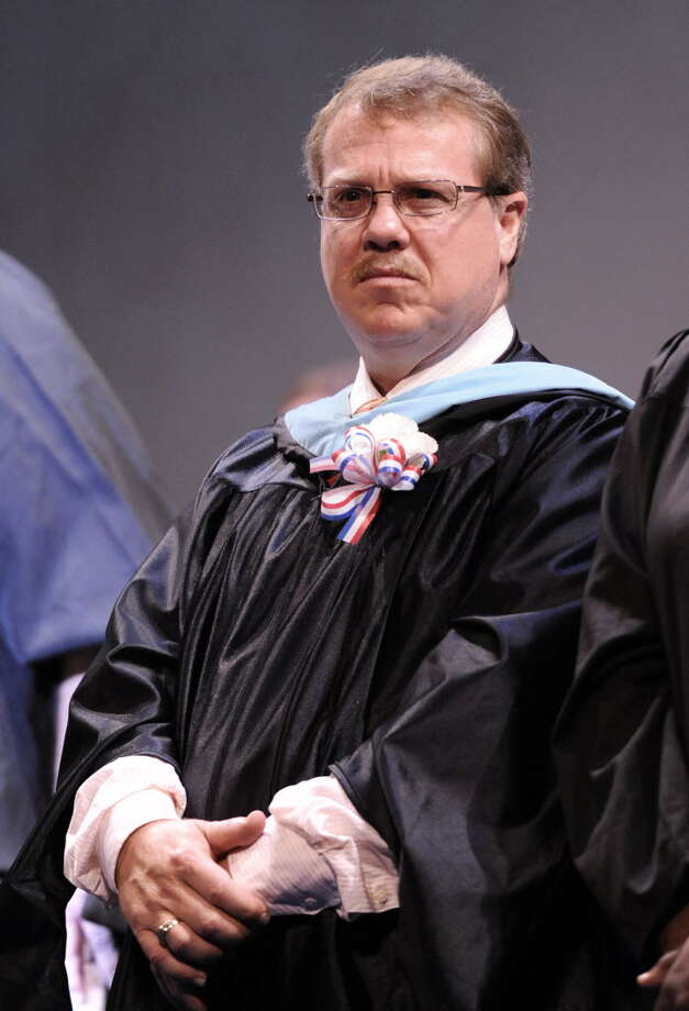 Embattled School Superintendent of the Schenectady School District before his remarks at the Schenectady High School graduation ceremony at the Proctor's Theatre in Schenectady, New York June 25, 2010. (Skip Dickstein/Times Union)