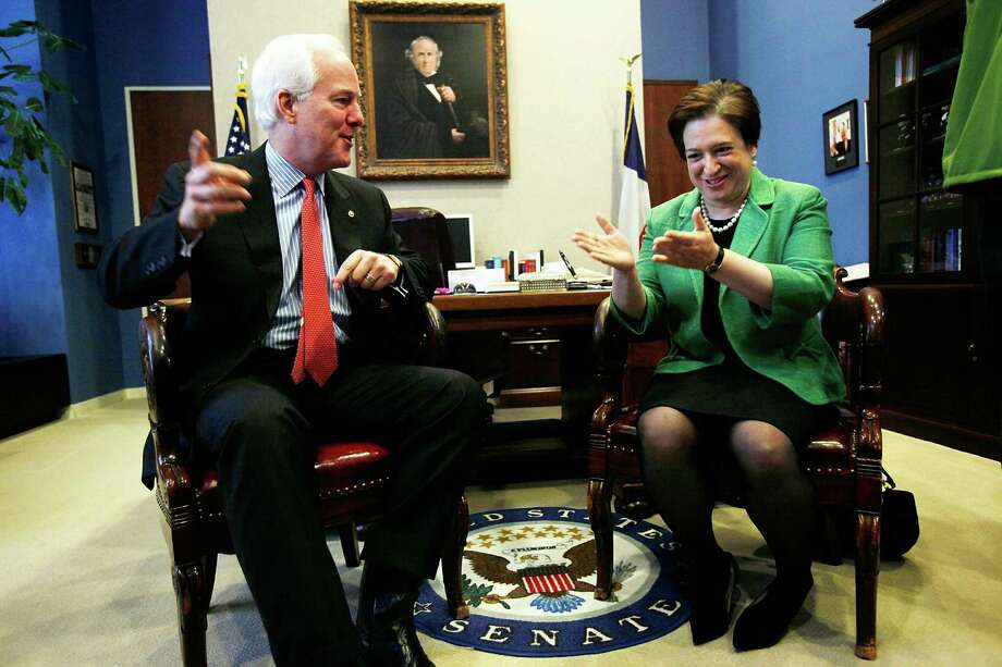 U.S. Supreme Court nominee, Solicitor General Elena Kagan meets with Sen. John Cornyn on Capitol Hill May 18, 2010 in Washington, DC. Photo: Alex Wong, Getty Images / Getty Images North America