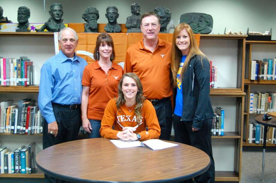 Kelli Hanzel of Klein High School Softball Team signs with The University of Texas to further her education and softball career as her family supports her  (Courtesy of Deborah Hanzel)