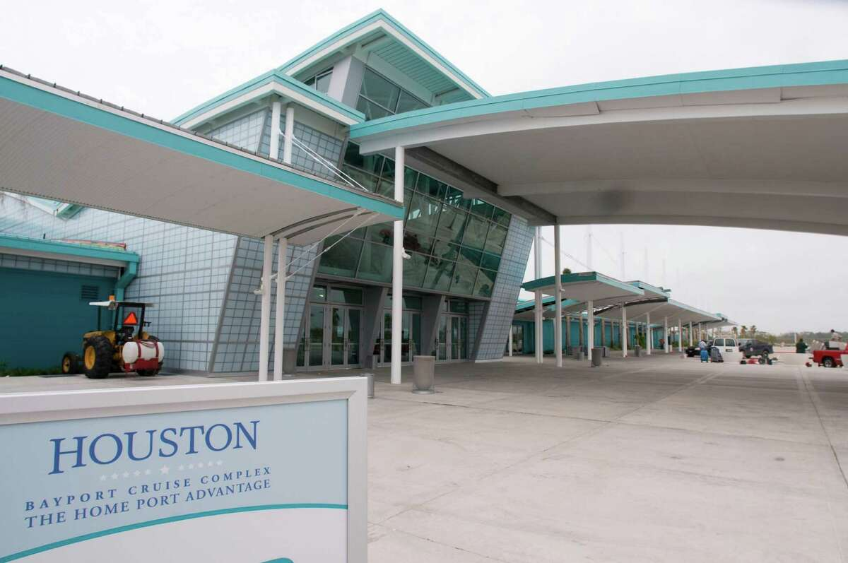 The Bayport Cruise Terminal on Port Road in Pasadena sits empty.