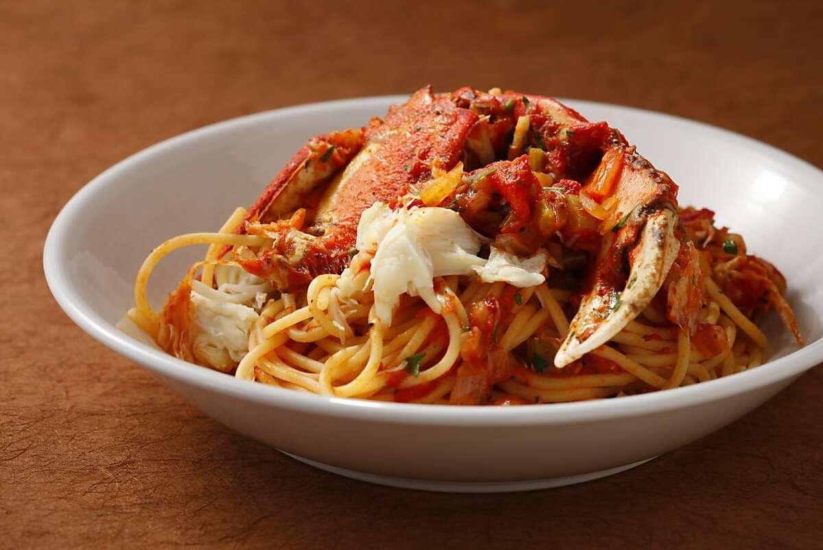 Crab pasta as seen in San Francisco, California, on Wednesday, November 14, 2012. Food styled by Tara Duggan.