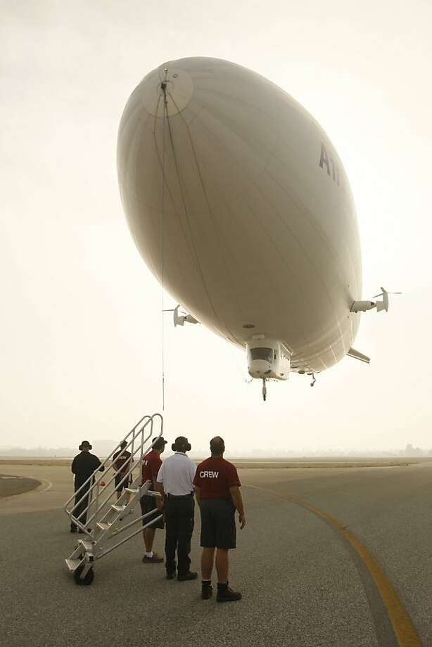 The Zeppelin Eureka carried 20,000 passengers over four years for Airship Ventures. Photo: Lea Suzuki, The Chronicle