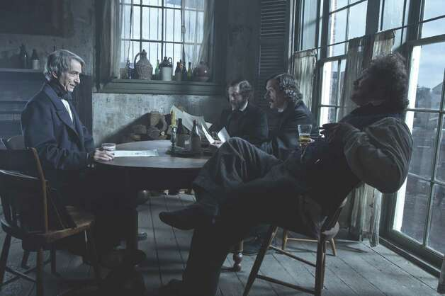 "David James/DreamWorks II Distribution Co., LLC  (L-R) Secretary of State, William Seward (David Strathairn) meets with ""The Gang of Three"" Richard Schell (Tim Blake Nelson), Robert Latham (John Hawkes) and W.N. Bilbo (James Spader) in this scene from director Steven Spielberg's drama ""Lincoln"" from DreamWorks Pictures and Twentieth Century Fox."
